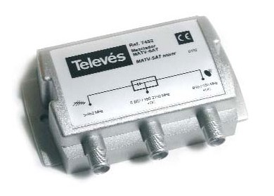 MEZCLADOR TV Y SATELITE TELEVES 745210