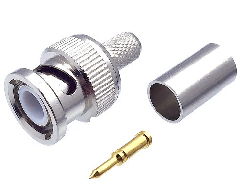 CONNECTOR BNC MALE FOR CRIMPING RG59CONNECTOR BNC MALE FOR C