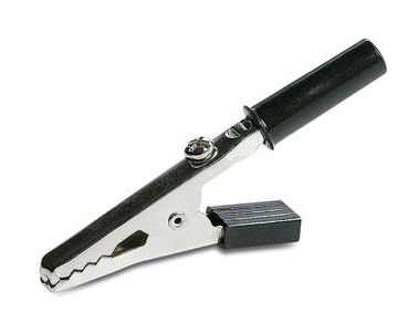 1725/N  INSULATED BLACK ALLIGATOR CLIP