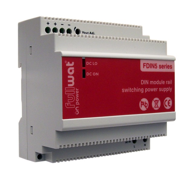 FDIN5-24 POWER SUPPLY DIN RAIL 24V DC 4A 100W