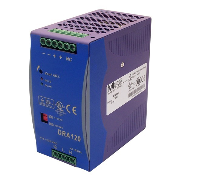 DRA120-12SPA POWER SUPPLY DIN RAIL FULLWAT 12V DC 120W 10A