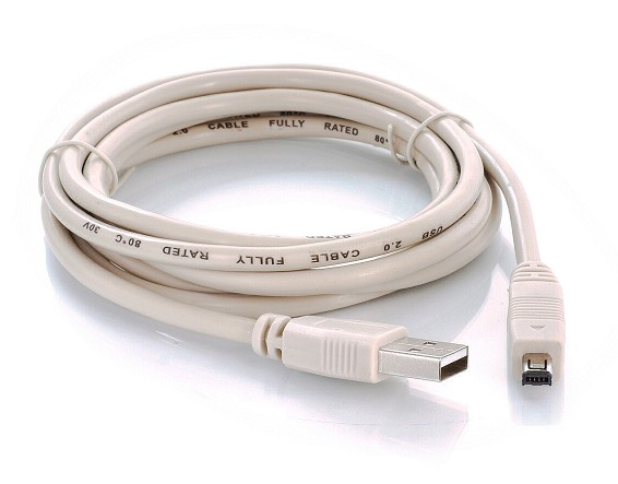 CABLE USB A MACHO A MINI USB B 4 PINES MACHO 1.8m*