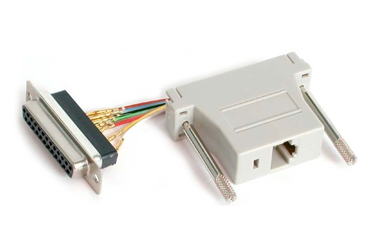 M-53830  ADAPTER FEMALE DB25 TO RJ45 --