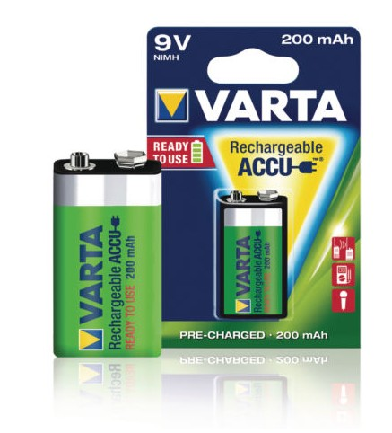 56722  RECHARGEABLE BATTERY  VARTA 9V 200mA