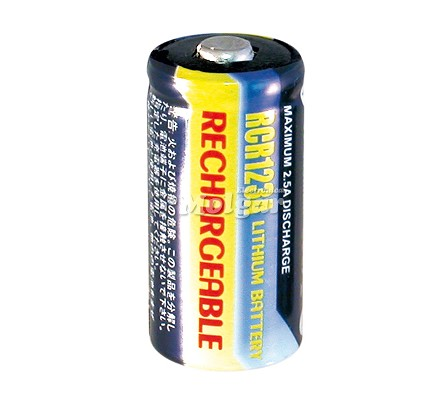 BAT826 BATERIA ION-LITIO RECARGABLE CR123 3V 500mAh