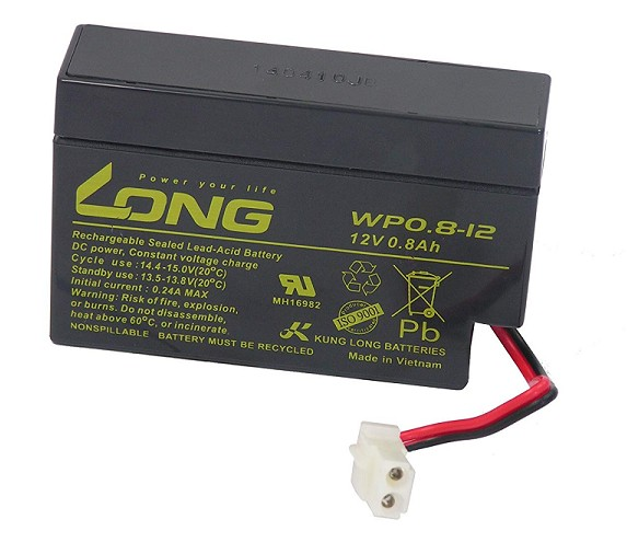 BATERIA LONG WP0.8-12 12V 0.8Ah 96x25x62mm
