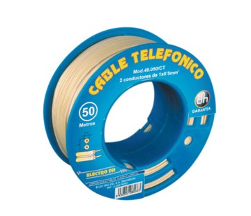 TCF-12  CABLE TELEFONICO CON FUNDA 12x0.22 mm