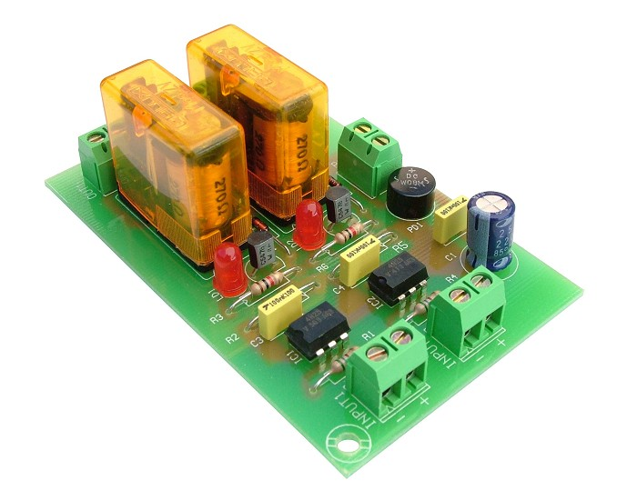 T-5 OPTO-COUPLED MODULE 2 OUTPUTS TO RELAY 12V CEBEK