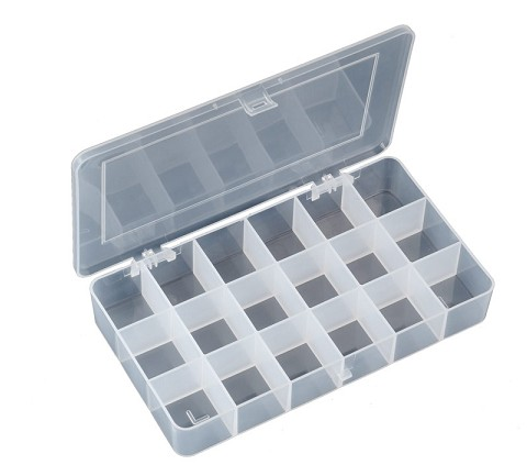 CM052 STORAGE BOX 18 COMPARTMENTS SMD COMPONENTS 210x110x32