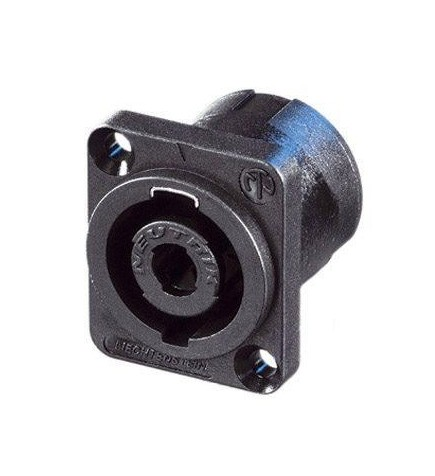 NL4MP CONECTOR SPEAKON BASE HEMBRA CUADRADA NEUTRIK