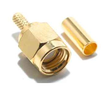 ZO380 SMA-RP MALE CONNECTOR TO CRIMP RG174