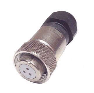 CHP-10A3Au 3 PIN FEMALE AIR SIDE MILITARY CONNECTOR