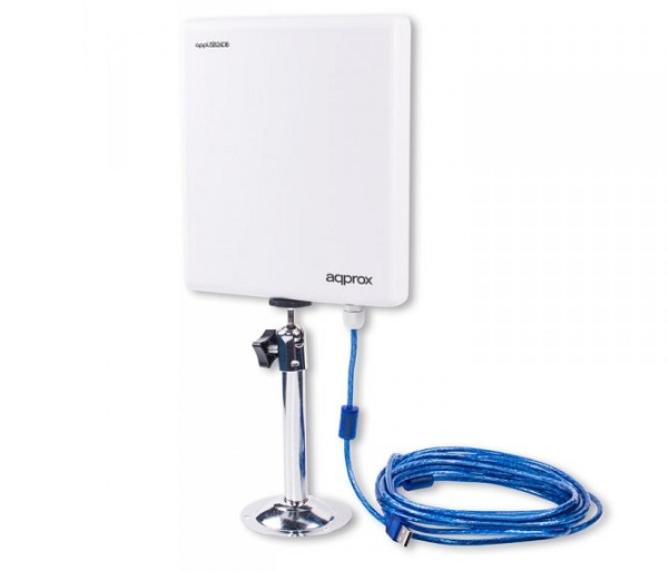 APPUSB26DB ANTENA WIFI PANEL USB ALTA GANANCIA 26dBi