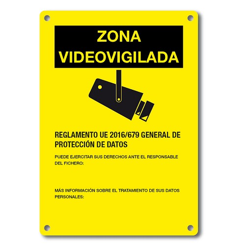 DEM-281 PLACA ADVERTENCIA CCTV EN CASTELLANO