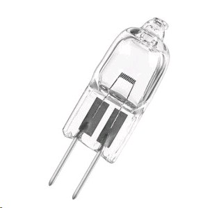 HALOGEN BI-PIN LIGHT BULB 12V 20W
