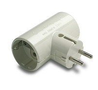10-124-05-2 DOUBLE PLUG TT LATERAL 16A 250V WHITE