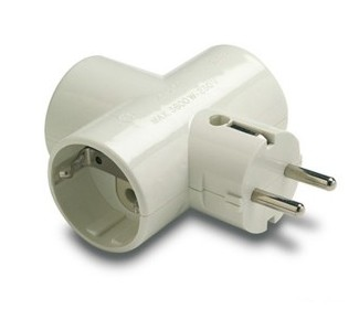 10-114-05-0 TRIPLE PLUG TT LATERAL 16A WHITE