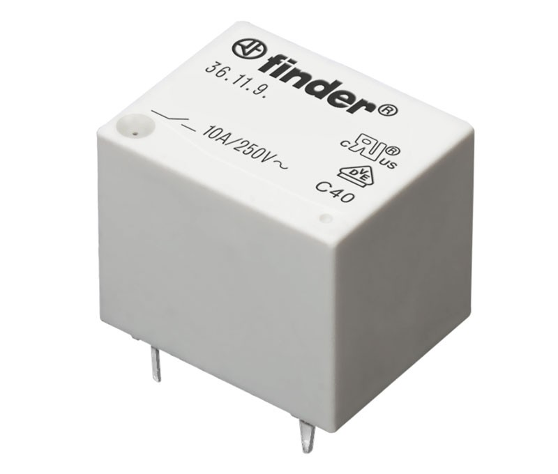 RELE FINDER 36.11.9.012.4011 12V DC 10A 1 CIRCUITO