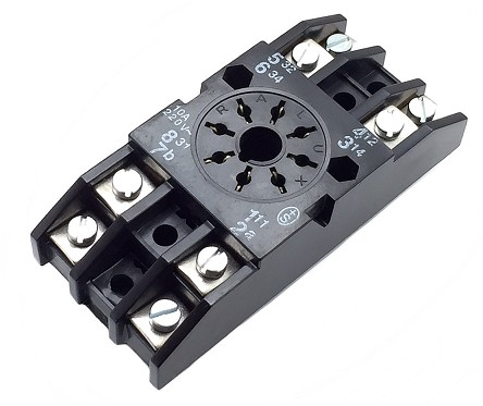 RALUX SOCKET RELAY B-47 2 CIRCUITS WITH TERMINALS