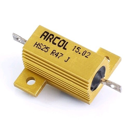 WH250H47 ALUMINIUM HOUSED RESISTER 25W 0.47 Ohm 5%
