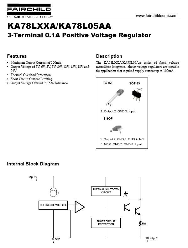 FIXED VOLTAGE REGULATOR 78L24 +24V 0 1A TO-92