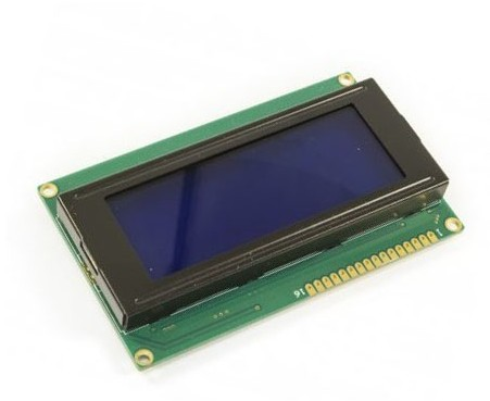 "DISPLAY LCD 3.1"" DE 20x4 FONDO AZUL 5V"