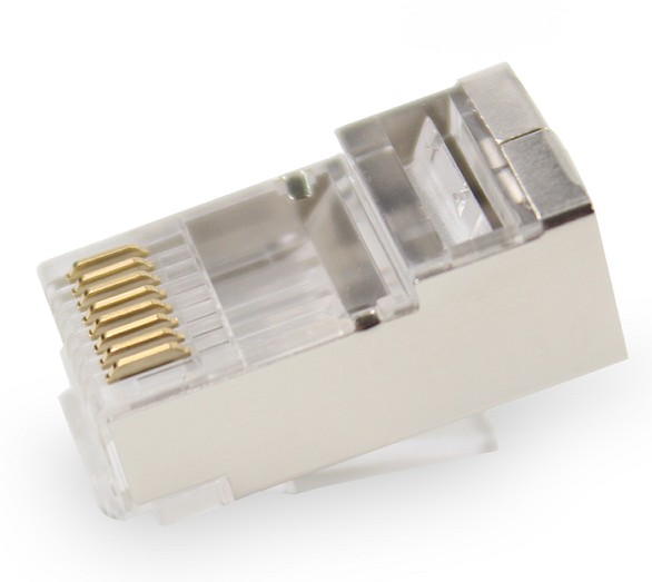 39.004/8/F RJ45 CONNECTOR CAT-5 FTP FLEXIBLE WITH GUIDE