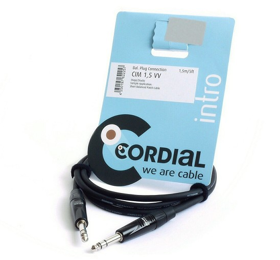 CABLE CORDIAL JACK 6.3mm MACHO ESTEREO 1.5m