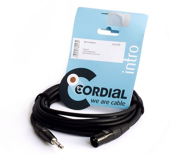 CABLE CORDIAL CIM5MP JACK 6.3mm A XLR MACHO 5m