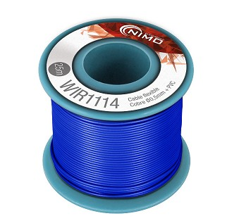 BOBINA CABLE FLEXIBLE 0.5mm AZUL 25m