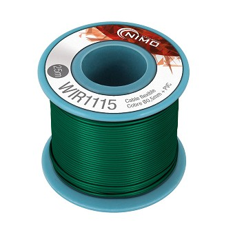 BOBINA CABLE FLEXIBLE 0.5mm VERDE 25m