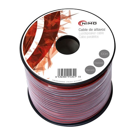 CABLE PARALELO ROJO-NEGRO 2x0.35mm 100m