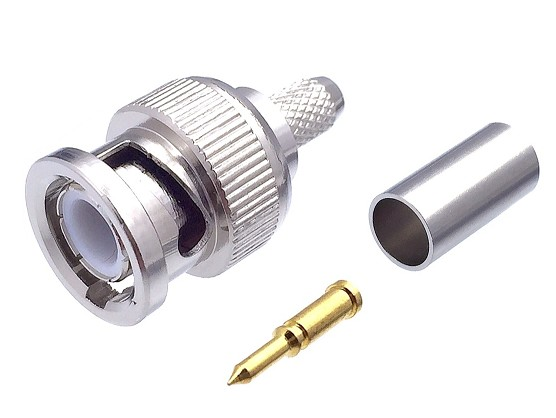 CONNECTOR BNC MALE FOR CRIMPING RG58