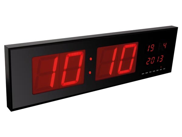 WC208 RELOJ PARED CON LEDS ROJOS 830x230x40mm