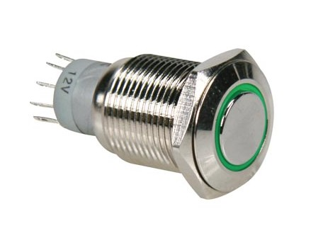 R1610G INTERRUPTOR ANTIVANDALICO LED VERDE IP65