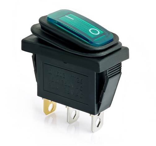 INTERRUPTOR LUMINOSO ESTANCO VERDE IP65