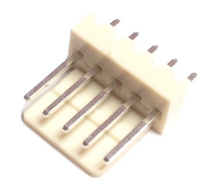 CO-3305  STRAIGHT MALE CONNECTOR 5 PIN 2.54 mm