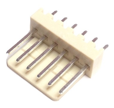 CO-3306  STRAIGHT MALE CONNECTOR 6 PIN 2.54 mm