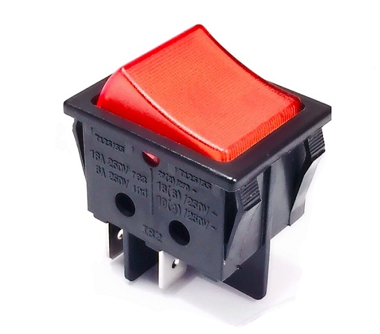 IB82LR INTERRUPTOR BASCULANTE DOBLE LUMINOSO ROJO
