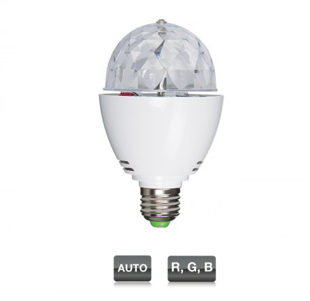 LED-MINIBALL27 MINI BOLA ROTATIVA LED RGB E-27